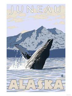 Humpback Whale, Juneau, Alaska Print at AllPosters.com