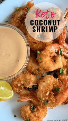Keto Coconut Shrimp is the perfect Keto appetizer or Keto friendly dinner. You can either pan-fry or make them in the air fryer, either way, this is an easy low carb shrimp recipe the whole family, even non-keto'ers will love. Ketogenic Recipes, Diet Recipes, Healthy Recipes, Dessert Recipes, Breakfast Recipes, Diet Breakfast, Recipes Dinner, Diet Tips, Breakfast Ideas