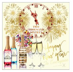 """Happy New Year to Everyone X"" by frenchfriesblackmg ❤ liked on Polyvore featuring art"