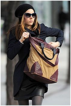 Jessica Biel. Street style. She's so effortlessly cool looking.