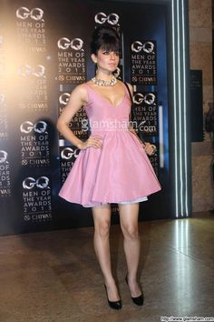 Kangana Ranaut In Short Frock at Bollywood Beauties In Hot Short Frocks picture gallery picture # 1 : glamsham.com