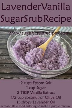 Lavender Vanilla Sugar Scrub Recipe- Diy Body Scrub by phyllis