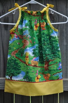 Winnie the Pooh 4T Pillowcase Dress by MySweetByDesign on Etsy, $24.00