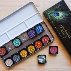 Finetec Watercolor 12 Metallic Colors Pan Set for Arts and
