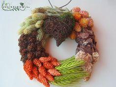 őszi kopogtató, mohaszívvel (17cm) Grapevine Wreath, Grape Vines, Wreaths, Fall, Decor, Autumn, Dekoration, Decoration, Door Wreaths