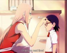 Sakura and Sarada