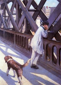 Gustave Caillebotte:  Le Pont de L'Europe, detail (1877)
