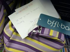 A GYN bag from the girls #card #support #care #caring #supportive #note #friends #BFFLCo #thoughts #prayers #wellwishes
