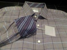 Thomas Dean Mens Blue Gray Reverse Cuffs Mens Shirt Button Front NEW HOT 2XL XXL