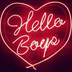 'Hello Boys' Neon