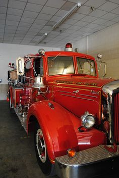 "(""ANTIQUE MACK FIRE ENGINE FROM GEORGE TOWN FIRE COMPANY, STATION #77 / EST DATE 1950's"") ....."