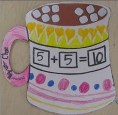 This winter math pack combines math activities with great art projects you can display in your classroom or hallway to celebrate the winter season.  It even has a fun game that students can play again and again!  The pack contains all of the templates and directions you need to get started:  Hot Chocolate Math:  This activity is a fantastic way for students to practice and visualize their addition facts to ten.
