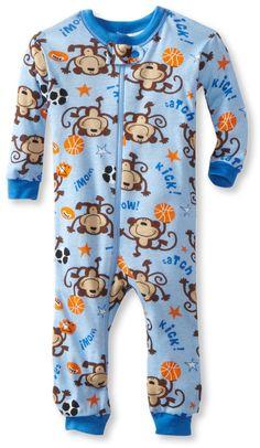 Amazon.com: Gerber Baby-Boys Infant 1 Piece Unionsuit Monkey Kick Pajama: Clothing