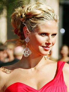 Bridesmaid hair do: Heidi Klum Braided Updo Formal Hairstyles, Up Hairstyles, Pretty Hairstyles, Braided Hairstyles, Wedding Hairstyles, Celebrity Hairstyles, Wedding Updo, Fashion Hairstyles, Bridal Hairstyle