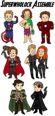 Superwholock/Avengers crossover