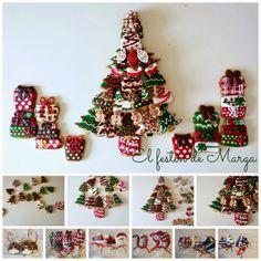 El festín de Marga: Galletas de Navidad decoradas con glasa textura ge...