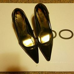 Black pointed heels Lightly used black pointed heels Shoes Heels