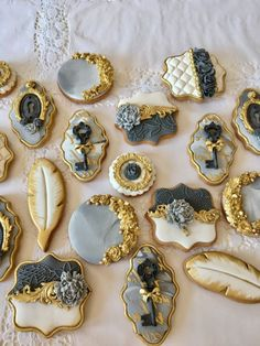 Wedding cookies-grey marble - Delice
