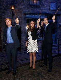 The British Royals Tour the Warner Bros. Studios 6. Duke of Cambridge Duchess of Cambridge Prince Harry