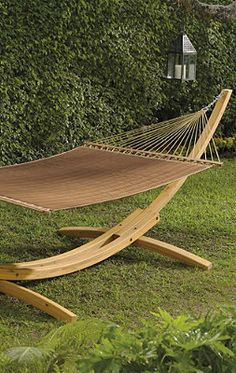 Relaxing Garden Hammock. Just ordered one for my backyard. I deserve this if I find time to use it