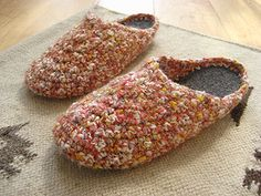 crochet around a sole to make slippers!