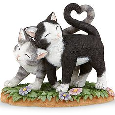 LENOX Figurines: Cats - Kittens with Heart Tails Figurine