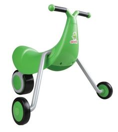 Okiedog Cheeky Chick by International Playthings. $65.91. From the Manufacturer                Cheeky Chick is a unique walker ride-on that's ready right out of the box, and no assembly is required. It is designed to assist toddlers with the basic locomotion. The handle bars are raised to make it easy to push and the front wheels are spaced far apart for added stability. Boasting portability, the Cheeky Chick folds to a fraction of its original size making it c...
