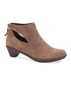 Look at this Taupe Bonita Suede Bootie on #zulily today!