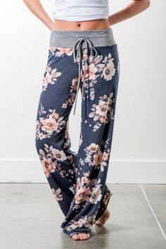 RubyClaire Boutique - Harvest Floral Wide Leg Loungers | Navy, $32.00 (https://www.rubyclaireboutique.com/harvest-floral-wide-leg-loungers-navy/) Floral Loungers | Women's Pajama Pants | Yoga Pants | Floral Pajamas | Women's Floral Loungewear
