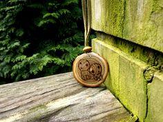 Kodama Tree Spirit Wood Burned Pendant Sassafras by LadyDryad