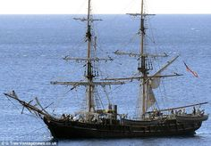 Setting sail: A sea-worthy replica of the doomed Essex is ready for filming