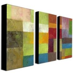 @Overstock - Artist: Michelle Calkins  Title: Abstract Color Panels IV  Product Type: Gallery-wrapped canvas art sethttp://www.overstock.com/Home-Garden/Michelle-Calkins-Abstract-Color-Panels-IV-Canvas-Art-Set/6182471/product.html?CID=214117 $91.99
