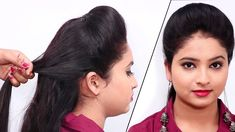 Front Puff Hair Style Tutorial / Simple Puff Hairstyles Easy For Girls /... Puff Hairstyle, Hair Puff, Quick Hairstyles, Latest Hairstyles, Chopped Haircut, Fall Hair Trends, New Haircuts, Trending Hairstyles, Natural Hair Styles