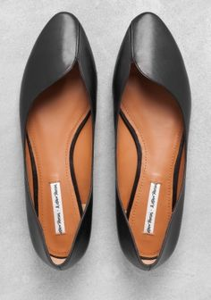 & other stories | leather ballerina flats