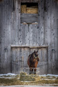 JUST PLAIN COUNTRY CHARM <3 A barn full of hay.