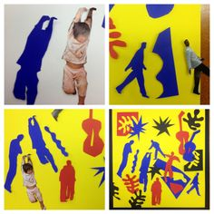 Matisse cutouts- resources include a handout with familiar Matisse images and… Henri Matisse, Matisse Art, Matisse Cutouts, 3rd Grade Art, Collage, Ecole Art, Art Courses, School Art Projects, Middle School Art
