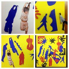 Matisse cutouts- omfatter uddelingskopi med Matisse billeder og magasiner med billeder af mennesker.