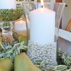 Head to your pantry for fall candles to decorate your table.