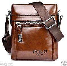 Men's Polo Genuine Leather Messenger Business Shoulder Bag Briefcase Handbag V 2   eBay