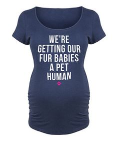 Navy 'Fur Babies' Maternity Scoop Neck Tee