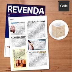 Os móveis Celite continuam em destaque na mídia! A Revista Revenda falou sobre o produto da linha Basic que integra cuba, gabinete e bancada em uma única peça. Lindo, funcional e prático.