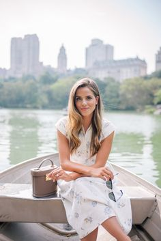 Outfit Details: Christy Dawn Dress, Mark Cross Bag, Chloe Flats, Ray Ban Sunglasses  No trip to Manhattan is complete without visiting Central Park at least once. Something we've always wanted to do was takeout ...