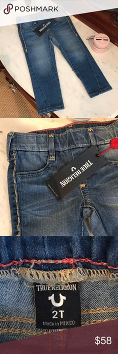 👖 Adorable True Religion Jeans 👖 Adorable 👖 True Religion Toddler Jeans 👖 New with tag, feel super comfy for your little fashionista. Always open to reasonable offers! True Religion Bottoms Jeans