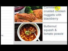 Healthy DinnRecipes » Cornmeal-Crusted Chicken Nuggets With Blackberry Mustard - YouTube