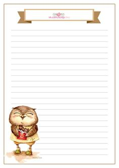 stationery or recipe card Stationary Printable, Printable Lined Paper, Journal Paper, Journal Cards, Cute Journals, Borders For Paper, Stationery Paper, Writing Paper, Note Paper