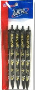 New Orleans Saints Click Pens - 5 Pack