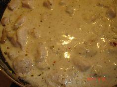 Tejszínes-fokhagymás-mustáros csirkemell