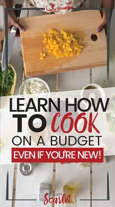 Do you know that you should be cooking at home, but don't know how? Check out these tips on how to learn to cook, even if you're a beginner! Get recipes and even cookbooks with healthy options for beginners too! #recipes #beginner #stepbystep #learnhowtocook #learntocook #healthy