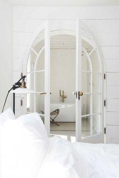 White double doors   Image via Creative Woodies