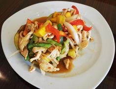 Chicken Mango is one of the entrees offered at Crystal's Kitchen in West Bridgewater. Marc Vasconcellos/The Enterprise